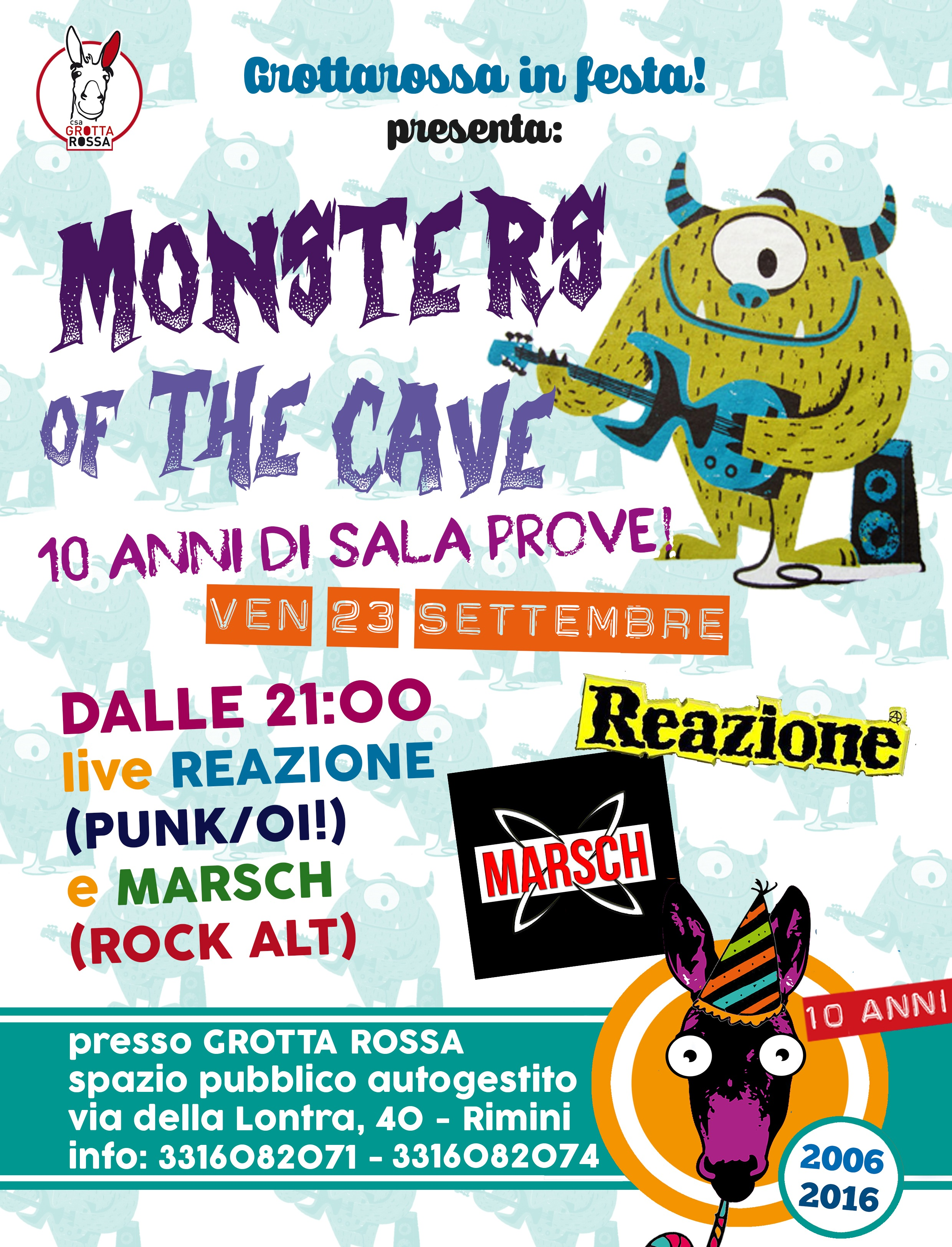 Monsters of the cave! Reazione e Marsch