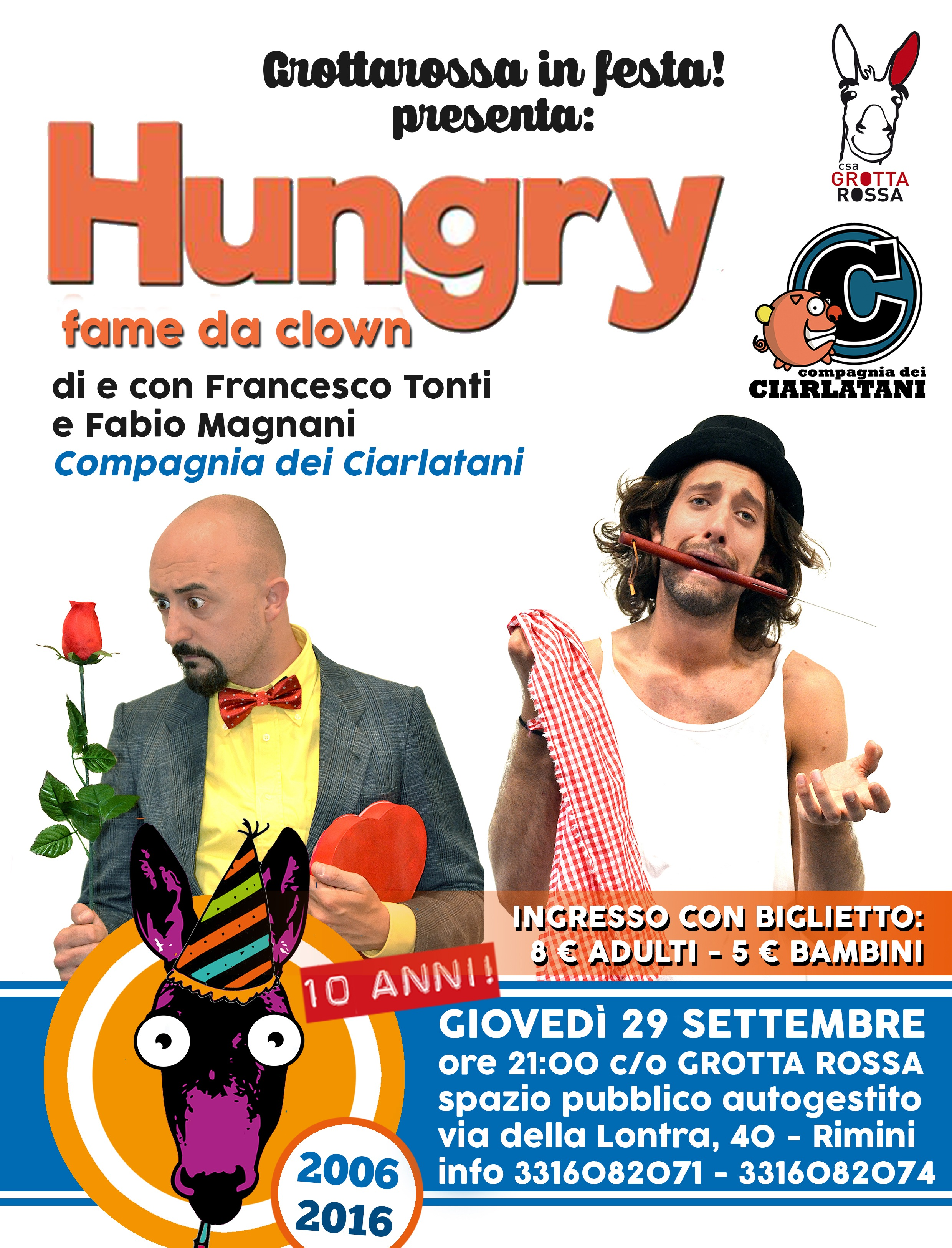 Hungry, fame da clown