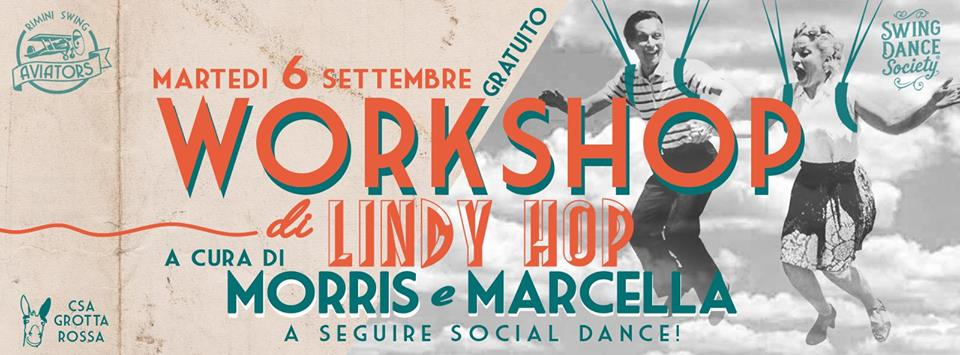 Workshop lindy hop 6 settembre